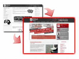 Neues Homepagedesign 2011