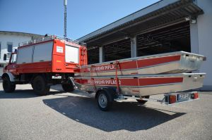 Boote in Transportstellung